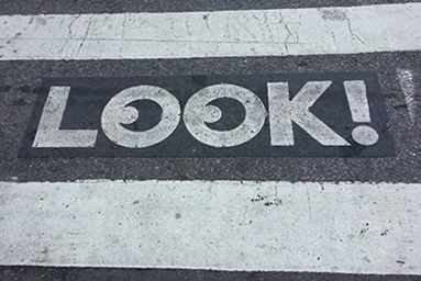 Image of LOOK sign