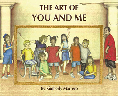 Image of Kimberly Marrero reading her book, The Art of You and Me - KM Art Advisory New York